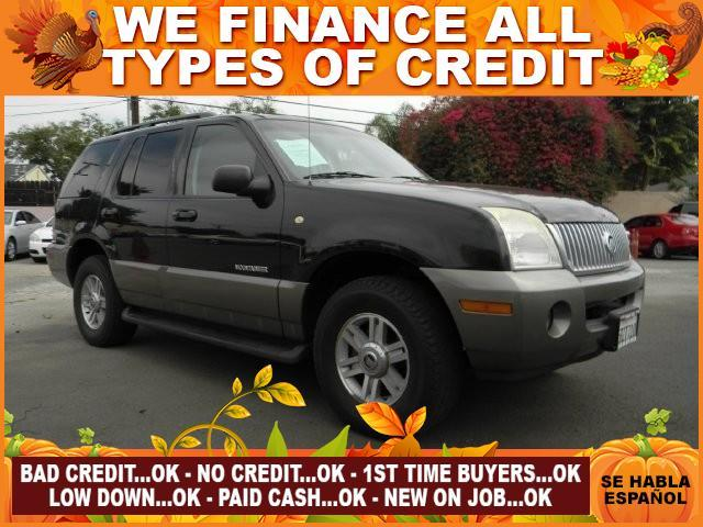 2002 MERCURY MOUNTAINEER BASE 2WD 4DR SUV black limited warranty included to assure your worry-fr