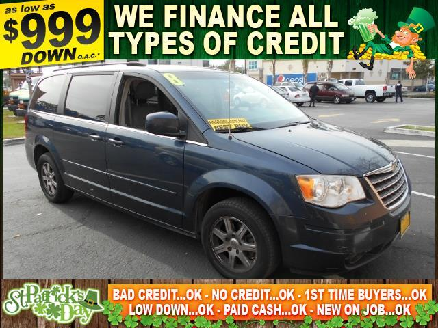 2008 CHRYSLER TOWN AND COUNTRY TOURING 4DR MINI VAN blue limited warranty included to assure your