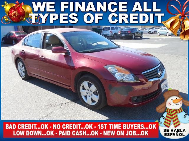 2007 NISSAN ALTIMA 25 4DR SEDAN red limited warranty included to assure your worry-free purchase