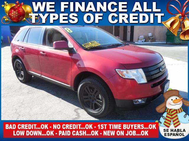 2008 FORD EDGE SEL 4DR SUV red limited warranty included to assure your worry-free purchase auto