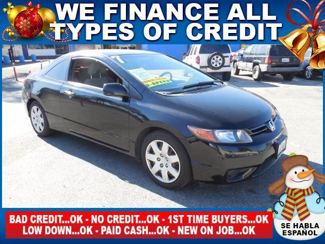 2007 HONDA CIVIC LX 2DR COUPE 18L I4 5M black limited warranty included to assure your worry-f