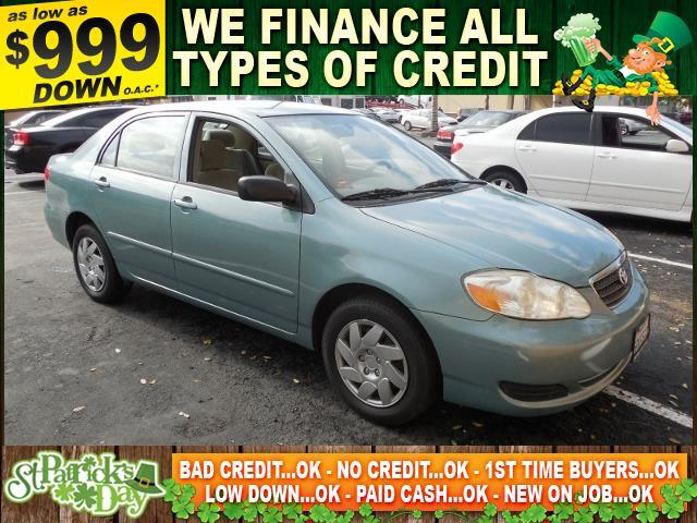2006 TOYOTA COROLLA CE 4DR SEDAN WAUTOMATIC green limited warranty included to assure your worry