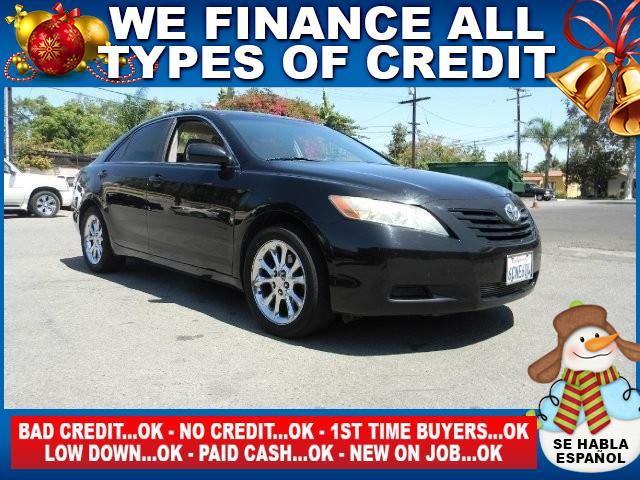 2007 TOYOTA CAMRY LE 4DR SEDAN 24L I4 5A black limited warranty included to assure your worry-
