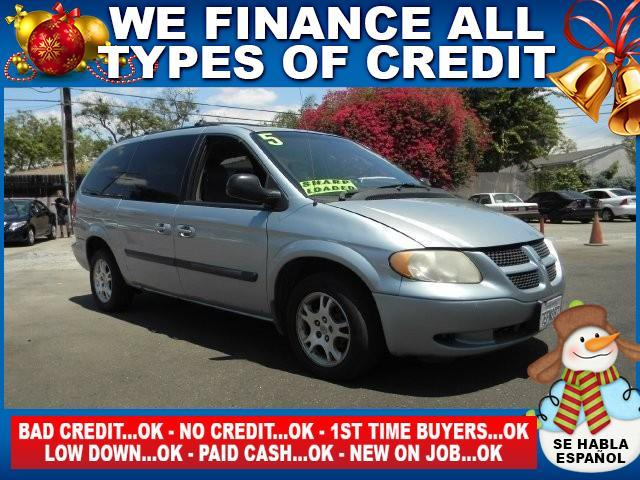 2005 DODGE GRAND CARAVAN SE 4DR EXTENDED MINI VAN blue clock  cruise control  front air conditio
