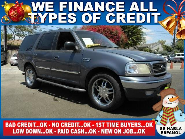 1999 FORD EXPEDITION XLT 4DR SUV blue abs - 4-wheel bumper color - chrome cassette cruise cont