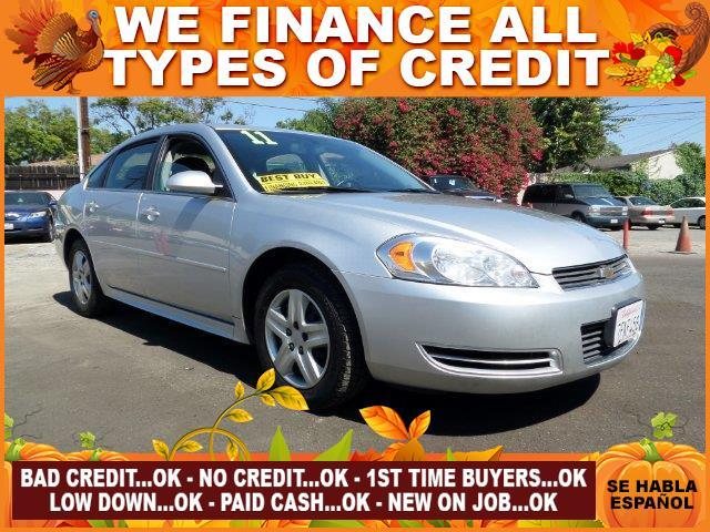 2011 CHEVROLET IMPALA LS FLEET 4DR SEDAN W1FL silver plimited warranty included to assure your wo