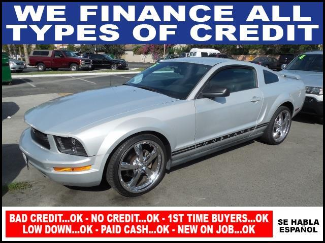 2005 FORD MUSTANG V6 DELUXE 2DR COUPE silver limited warranty included to assure your worry-free p