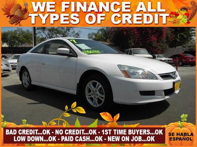 2007 HONDA ACCORD LX 2DR COUPE 24L I4 5A white limited warranty included to assure your worry-f