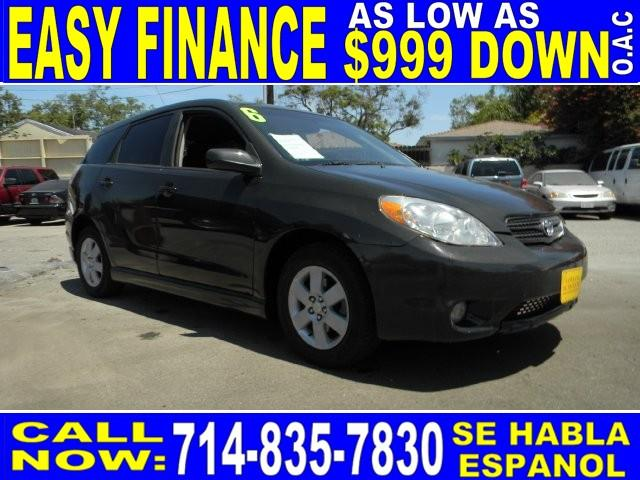 2006 TOYOTA MATRIX XRS 4DR WAGON black limited warranty included to assure your worry-free purcha