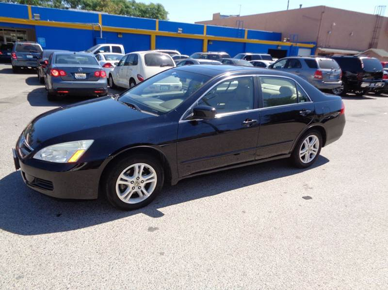 2006 HONDA ACCORD EX WLEATHER 4DR SEDAN WLEATHER black limited warranty included to assure your
