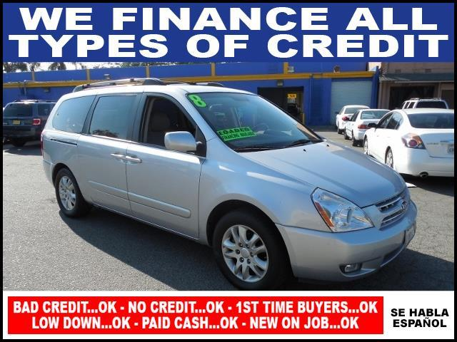 2008 KIA SEDONA EX 4DR EXTENDED MINI VAN silver limited warranty included to assure your worry-fr