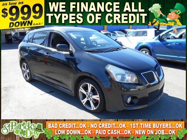 2009 PONTIAC VIBE GT 4DR WAGON black limited warranty included to assure your worry-free purchase