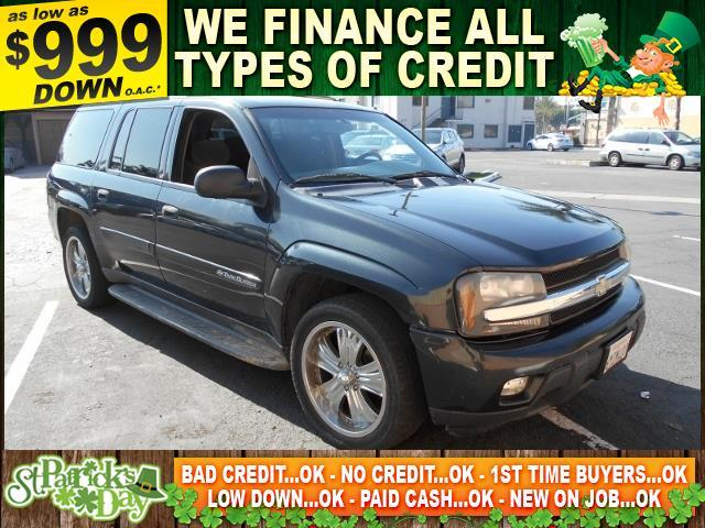 2003 CHEVROLET TRAILBLAZER EXT LT 4WD 4DR SUV black limited warranty included to assure your worr