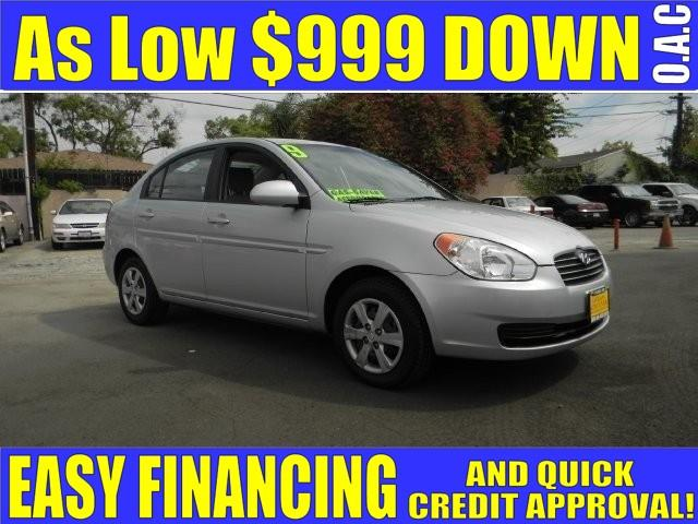 2009 HYUNDAI ACCENT GLS 4DR SEDAN 4A silver limited warranty included to assure your worry-free p