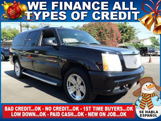 2003 CADILLAC ESCALADE ESV BASE AWD 4DR SUV black plimited warranty included to assure your worry