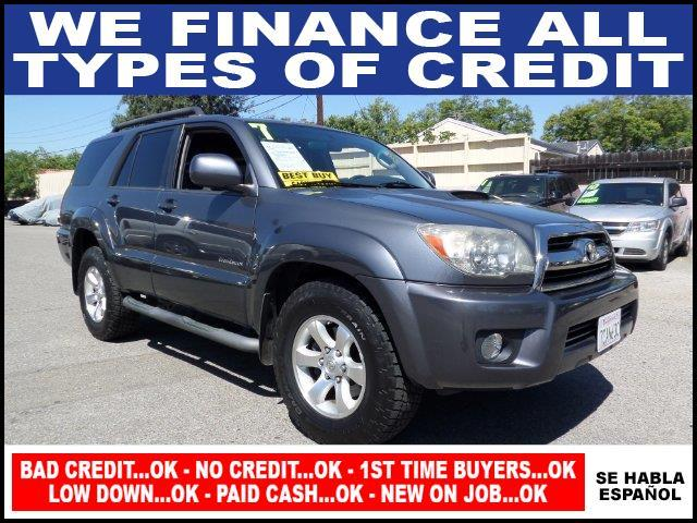 2007 TOYOTA 4RUNNER SR5 4DR SUV V6 gray plimited warranty included to assure your worry-free purc