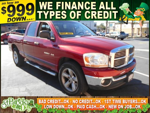 2006 DODGE RAM PICKUP 1500 red limited warranty included to assure your worry-free purchase auto