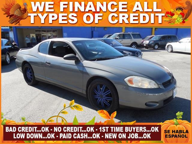 2006 CHEVROLET MONTE CARLO LT 2DR COUPE W1LT gray autocheck report is available upon request se