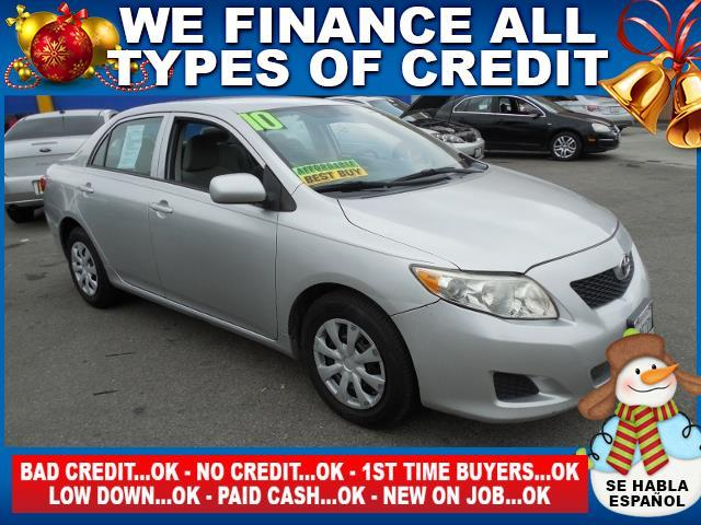 2010 TOYOTA COROLLA LE 4DR SEDAN 4A silver limited warranty included to assure your worry-free pu