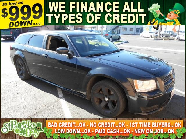 2008 DODGE MAGNUM BASE 4DR WAGON black limited warranty included to assure your worry-free purcha