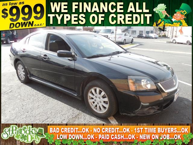 2010 MITSUBISHI GALANT FE 4DR SEDAN black limited warranty included to assure your worry-free pur