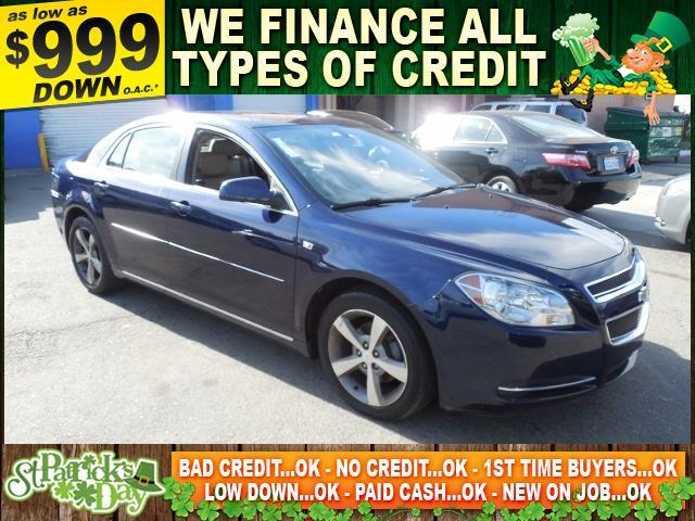 2008 CHEVROLET MALIBU LT 4DR SEDAN W2LT blue limited warranty included to assure your worry-free