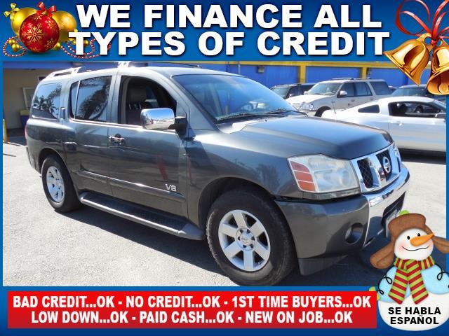 2006 NISSAN ARMADA gray limited warranty included to assure your worry-free purchase autocheck r
