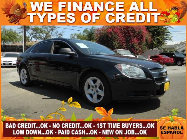 2010 CHEVROLET MALIBU LS FLEET 4DR SEDAN black limited warranty included to assure your worry-fre