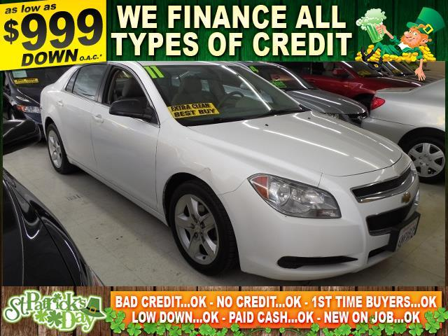 2011 CHEVROLET MALIBU LS FLEET 4DR SEDAN white limited warranty included to assure your worry-fre