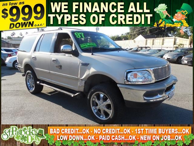 1997 FORD EXPEDITION XLT 4DR 4WD SUV gold autocheck report is available upon request several tho