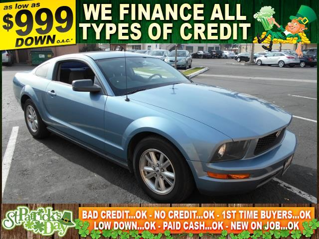 2006 FORD MUSTANG blue limited warranty included to assure your worry-free purchase autocheck re