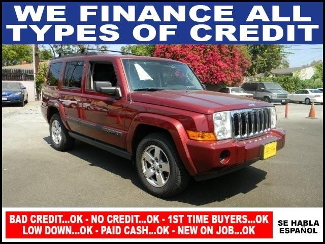 2007 JEEP COMMANDER SPORT 4DR SUV 4WD burgandy limited warranty included to assure your worry-fre