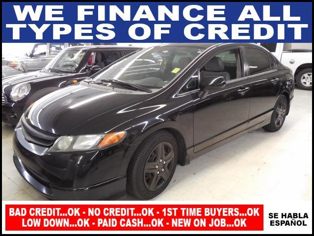 2008 HONDA CIVIC LX 4DR SEDAN 5M black air conditioning amfm stereo anti-lock brakes cd playe