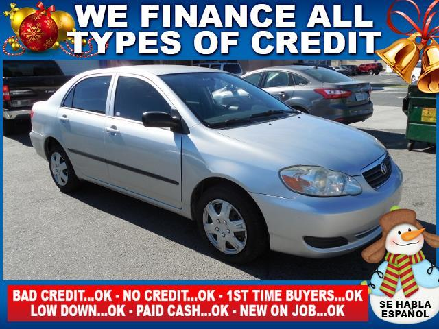 2007 TOYOTA COROLLA CE 4DR SEDAN 18L I4 4A silver limited warranty included to assure your wor