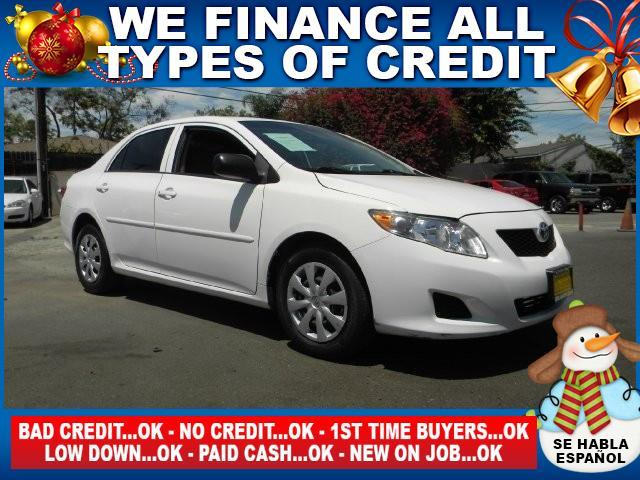 2009 TOYOTA COROLLA BASE 4DR SEDAN 4A white limited warranty included to assure your worry-free p