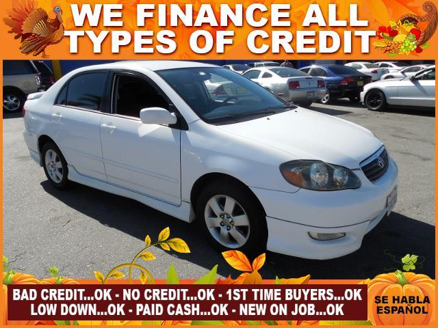2007 TOYOTA COROLLA S 4DR SEDAN 18L I4 4A white limited warranty included to assure your worry