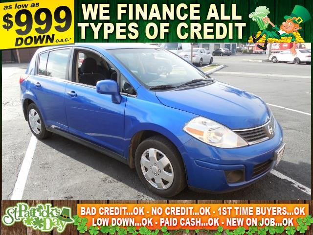 2009 NISSAN VERSA 18 S 4DR HATCHBACK 6M blue limited warranty included to assure your worry-free