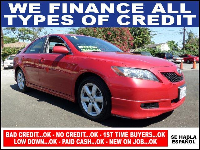 2007 TOYOTA CAMRY SE V6 4DR SEDAN red plimited warranty included to assure your worry-free purcha