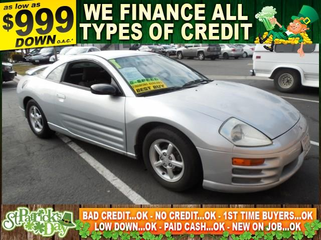 2001 MITSUBISHI ECLIPSE RS 2DR HATCHBACK silver autocheck report is available upon request sever