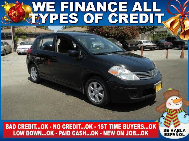 2008 NISSAN VERSA 18 SL 4DR HATCHBACK CVT black limited warranty included to assure your worry-f