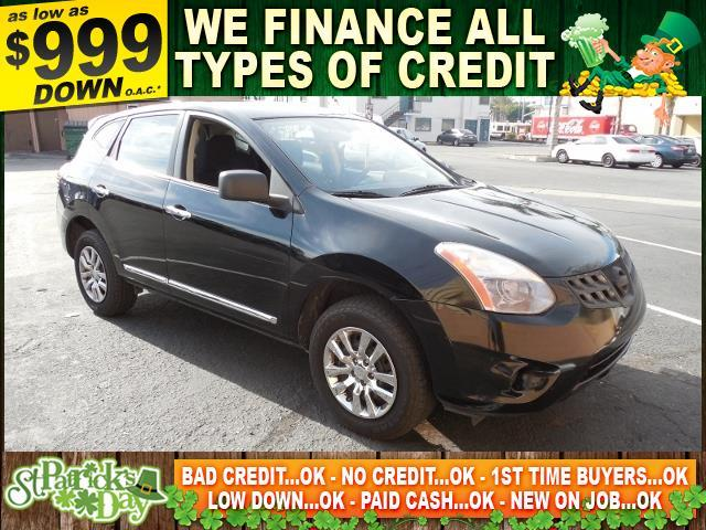 2011 NISSAN ROGUE S 4DR CROSSOVER black limited warranty included to assure your worry-free purch