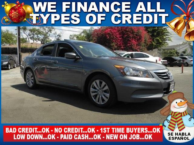 2012 HONDA ACCORD EX 4DR SEDAN 5A gray limited warranty included to assure your worry-free purcha