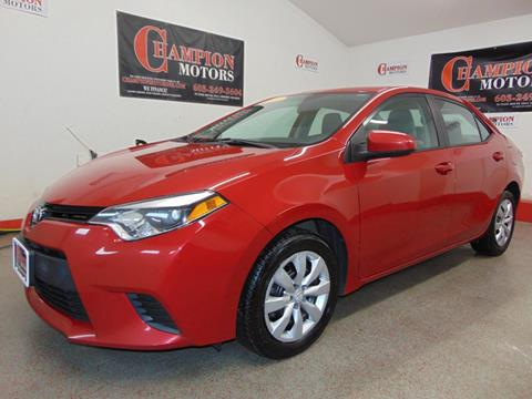 Toyota corolla for sale in new hampshire for Champion motors amherst nh