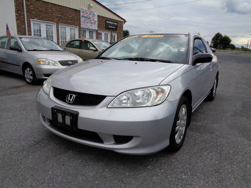 2004 honda civic lx 2dr coupe w side airbags in strasburg va supermax autos. Black Bedroom Furniture Sets. Home Design Ideas