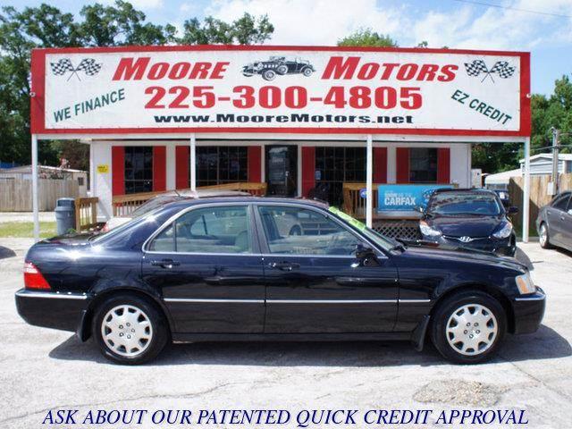 2003 ACURA RL 35 4DR SEDAN black at moore motors everybody rides good credit bad credit no p