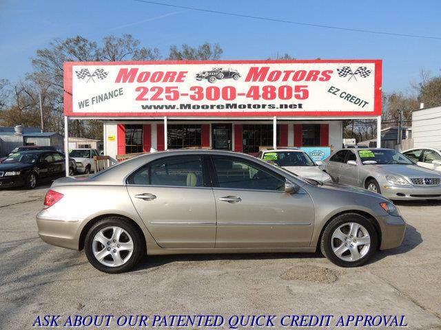 2005 ACURA RL 35 4DR SEDAN gold at moore motors everybody rides good credit bad credit no pro