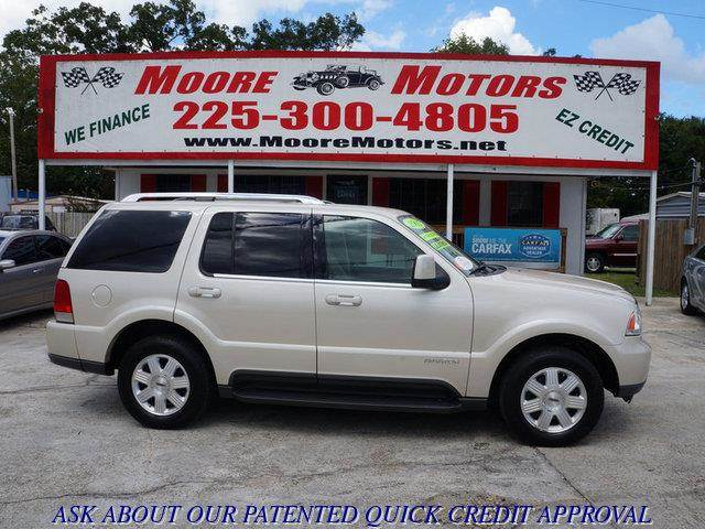 2005 LINCOLN AVIATOR LUXURY 4DR SUV gold at moore motors everybody rides good credit bad credi