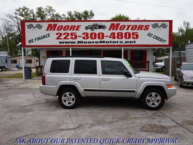 2008 JEEP COMMANDER SPORT 4X2 SUV silver at moore motors everybody rides good credit bad credi
