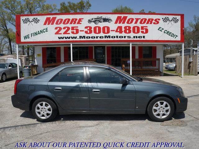 2007 CADILLAC CTS 36L gray at moore motors everybody rides good credit bad credit no problem