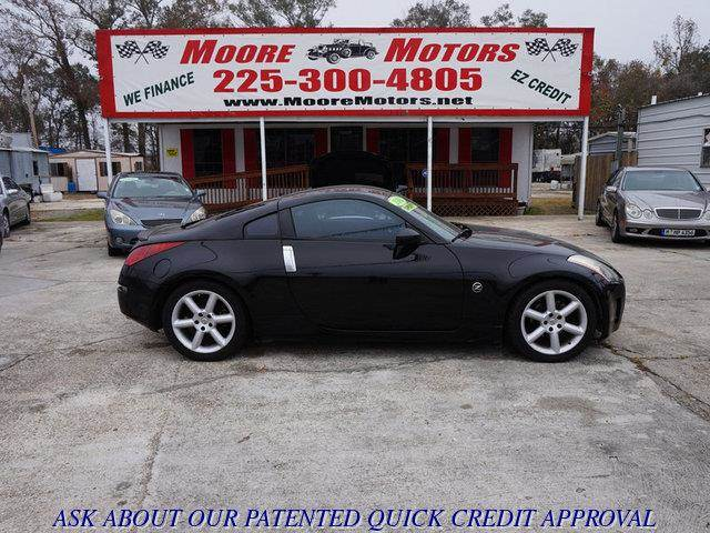 2003 NISSAN 350Z PERFORMANCE black at moore motors everybody rides good credit bad credit no